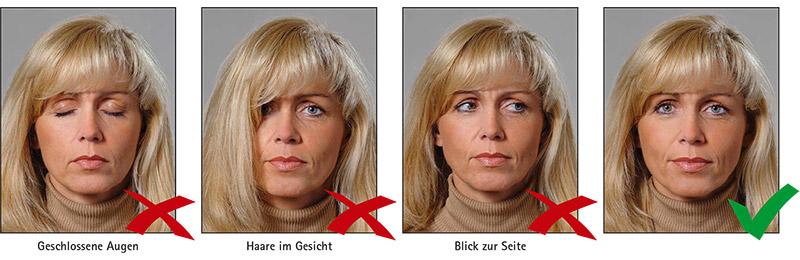 Biometrisches Passbild: Augen & Blickrichtung