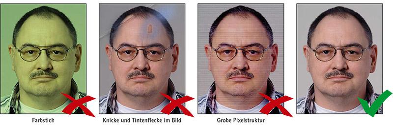 Biometrisches Passbild: Fotoqualität