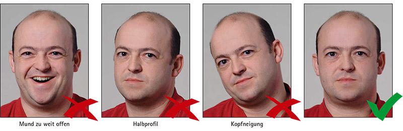 Biometrisches Passbild: Kopfposition & Gesichtsausdruck