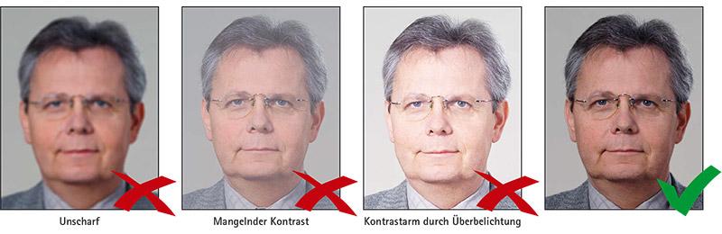 Biometrisches Passbild: Schärfe & Kontrast