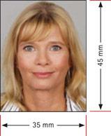 biometrisches Passbild Größe